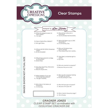 Creative Expressions CRACKER JOKES Clear Stamps cec906
