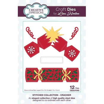 Creative Expressions CRACKER Stitched Collection Dies cedlh1043