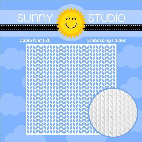 Sunny Studio CABLE KNIT Embossing Folder SSMB-102 zoom image