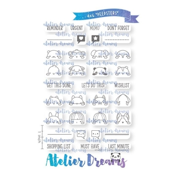 Atelier Dreams PEEPSTERS Clear Stamp Set ad086