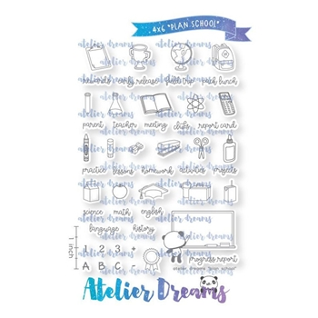 Atelier Dreams PLAN SCHOOL Clear Stamp Set ad004a