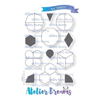 Atelier Dreams CHARTS Clear Stamp Set ad084