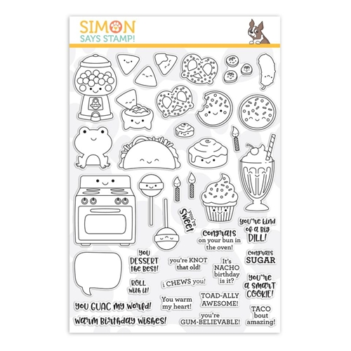 Simon Says Clear Stamps I CHEWS YOU sss101934 Preview Image