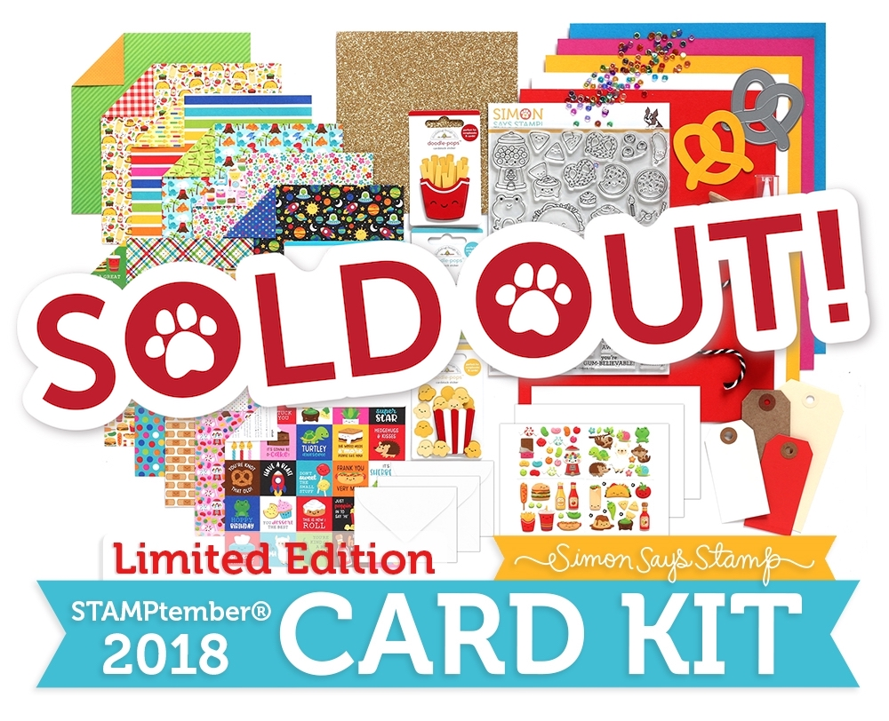 Limited Edition Simon Says Stamp I CHEWS YOU 2018 Card Kit CYSSK18 zoom image