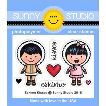 Sunny Studio ESKIMO KISSES Clear Stamp Set SSCL-210