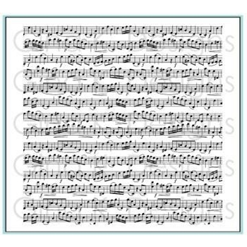 Gina K Designs MUSIC MEDLEY Cling Background Stamp 3269