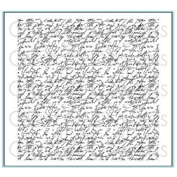 Gina K Designs ELEGANT SCRIPT Cling Background Stamp 3276