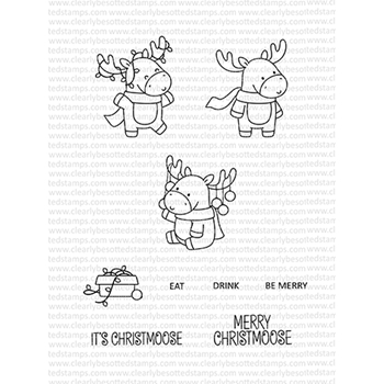 Clearly Besotted MERRY CHRISTMOOSE Clear Stamps