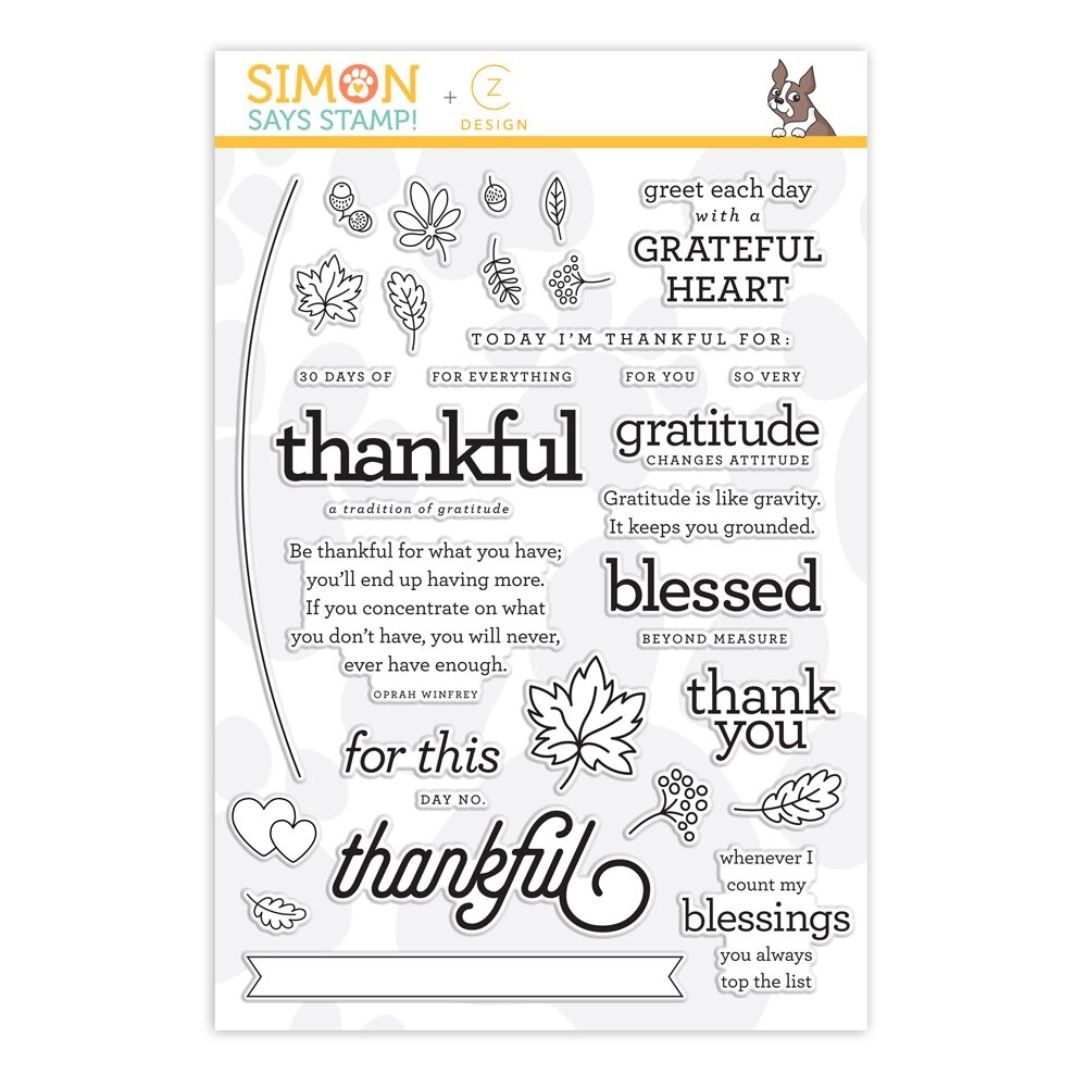 CZ Design Clear Stamps 30 DAYS OF THANKFUL 2018 cz25 zoom image