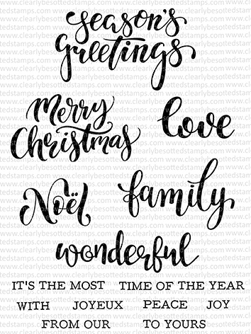 Clearly Besotted CHRISTMAS CALLIGRAPHY Clear Stamps Preview Image