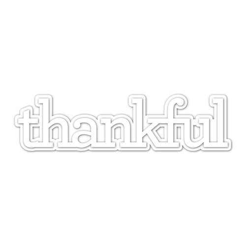 CZ Design Wafer Dies THANKFUL 1 czd37 Preview Image