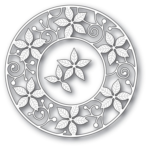 Memory Box POINSETTIA CIRCLE FRAME Craft Die 94081 Preview Image