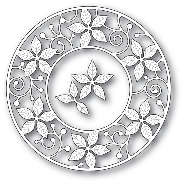 Memory Box POINSETTIA CIRCLE FRAME Craft Die 94081 zoom image