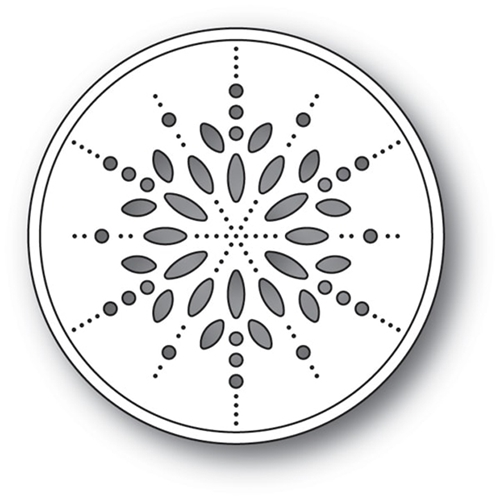 Memory Box PINPOINT SNOWFLAKE CIRCLE Craft Die 94089 Preview Image
