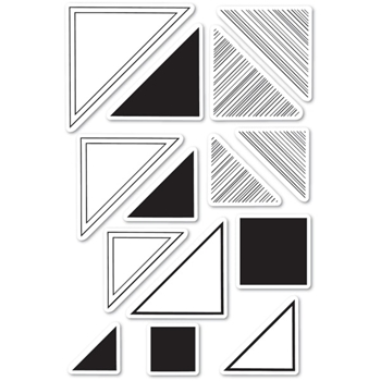Memory Box Clear Stamps LOOKING FOR MR. RIGHT TRIANGLE Open Studio cl5231
