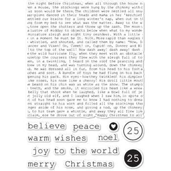 Memory Box Clear Stamps TYPEWRITER HOLIDAY ELEMENTS Open Studio cl5234