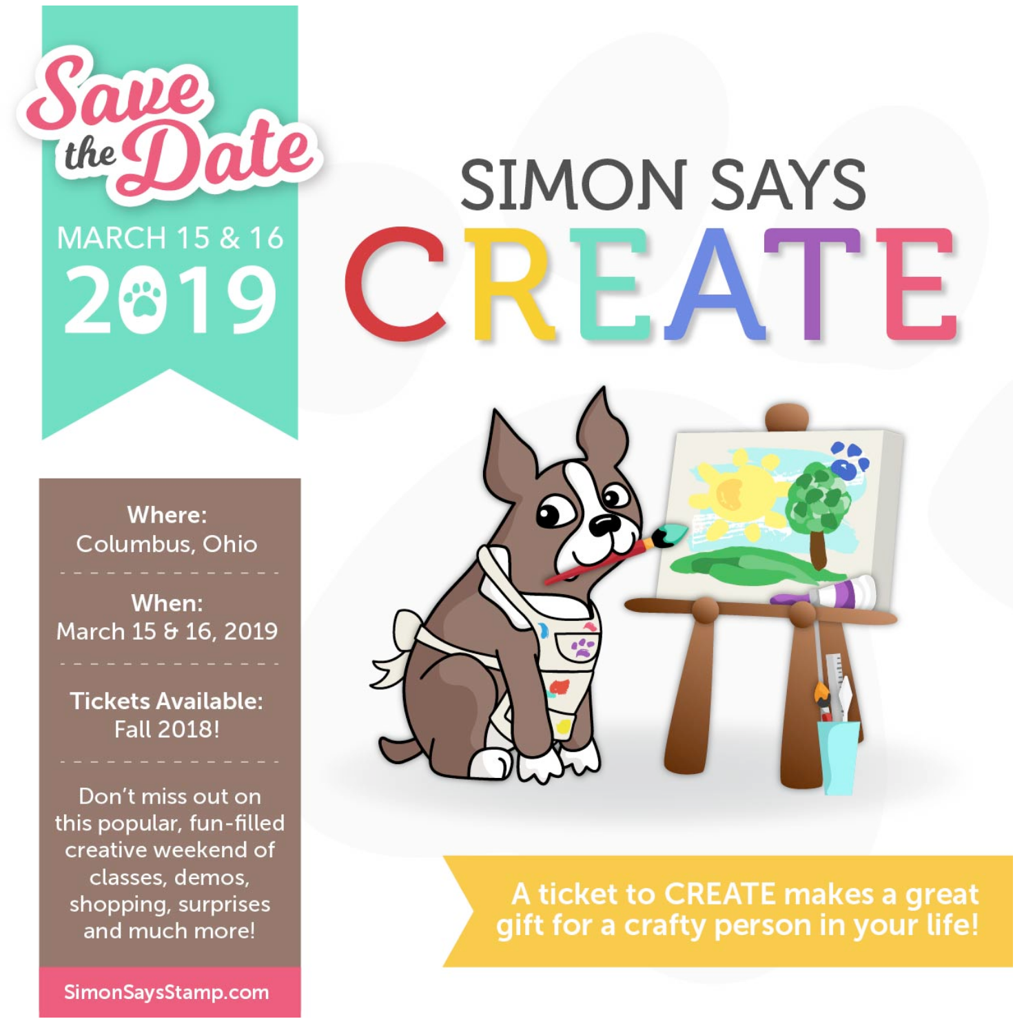 Simon Says CREATE 2019 Ticket B Preview Image