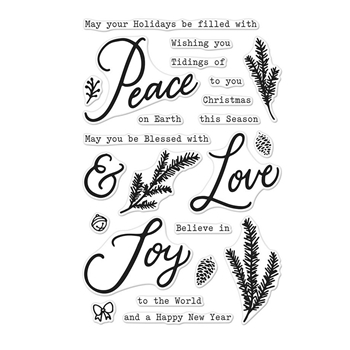 Hero Arts Clear Stamps PEACE LOVE AND JOY CM309