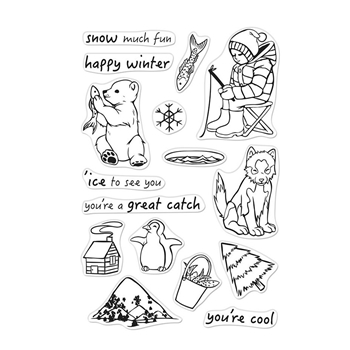 Hero Arts Clear Stamps ICE FISHING CM307