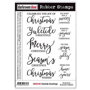 Darkroom Door Cling Stamp YULETIDE GREETINGS ddrs195