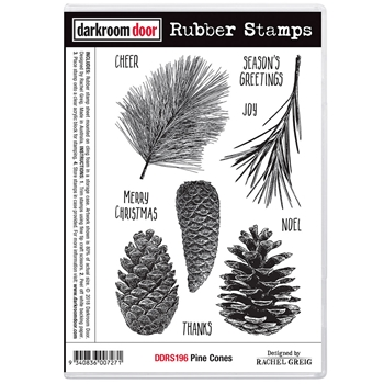 Darkroom Door Cling Stamp PINE CONES ddrs196