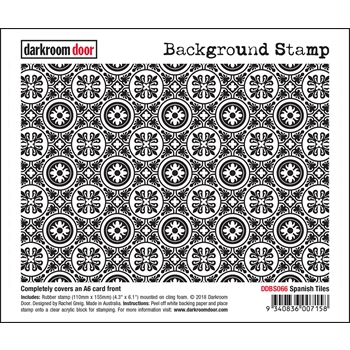 Darkroom Door Cling Stamp SPANISH TILES Background ddbs066