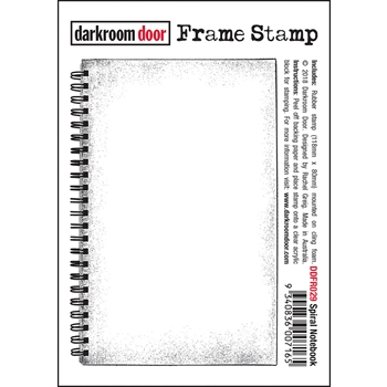 Darkroom Door Cling Stamp SPIRAL NOTEBOOK Frame ddfr029