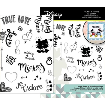 Disney Vintage Mickey Mouse and Friends MICKEY AND MINNIE A6 Clear Stamps DUS2809