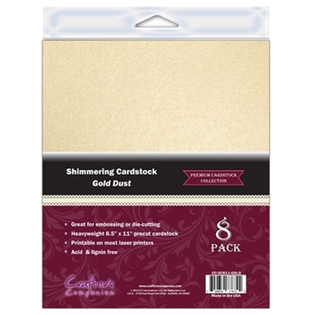Crafter's Companion GOLD DUST 8.5 x 11 Shimmering Cardstock cc-sc811-gold