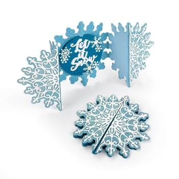 Sizzix SNOWFLAKE FOLD A LONG Thinlits Die Set 663175
