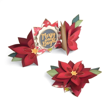 Sizzix POINSETTIA FOLD-A-LONG Thinlits Die Set 663174