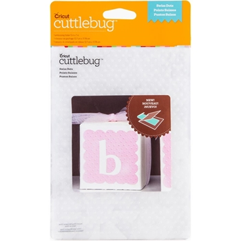 Provocraft Cuttlebug SWISS DOTS Embossing Folder Cricut 2002784