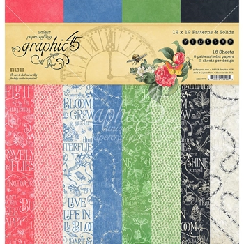 Graphic 45 FLUTTER 12 x 12 Patterns & Solids Paper Pad 4501777