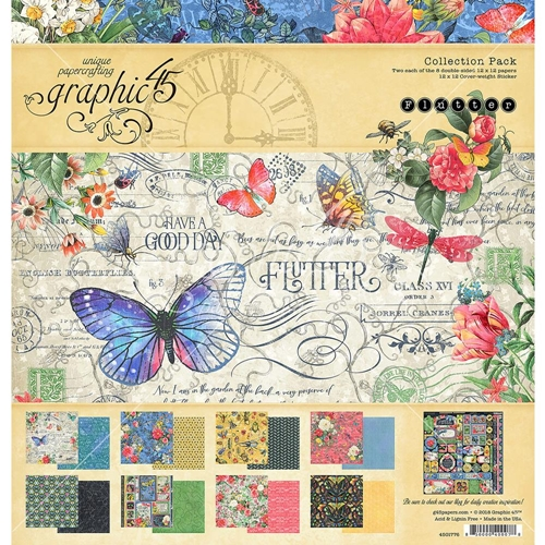 Graphic 45 FLUTTER 12 x 12 Collection Pack 4501776 Preview Image