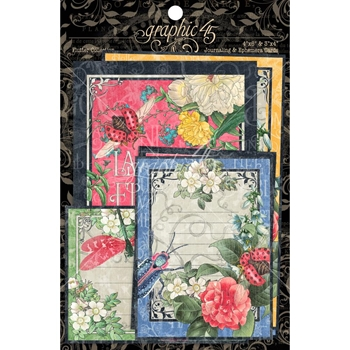 Graphic 45 FLUTTER Journaling And Ephemera Cards 4501780