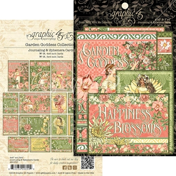 Graphic 45 GARDEN GODDESS Journaling And Ephemera Cards 4501757