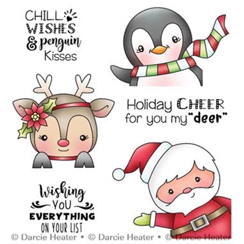 Darcie's PEEKIN' POLAR PALS Clear Stamp Set pol408