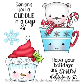 Darcie's CUDDLE IN A CUP Clear Stamp Set pol409