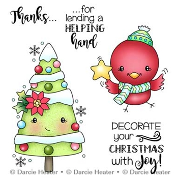 Darcie's DECORATE CHRISTMAS Clear Stamp Set pol410