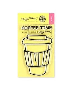 Waffle Flower COFFEE TIME Clear Stamps 271209