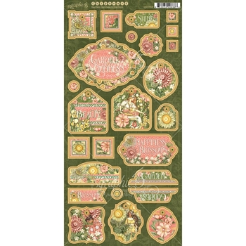 Graphic 45 GARDEN GODDESS Chipboard 4501755