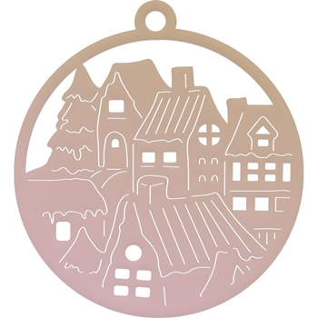 Couture Creations MINI SMALL TOWN TAG Die Highland Christmas co726298