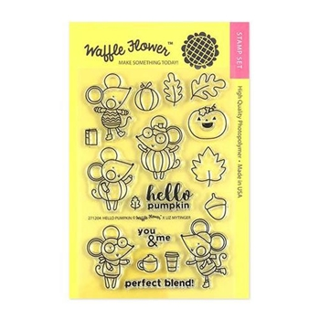 Waffle Flower HELLO PUMPKIN Clear Stamps 271204