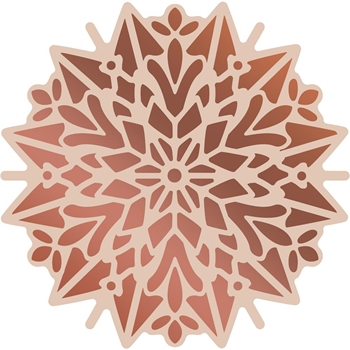 Couture Creations POINSETTIA DOILY Cut, Foil, & Emboss Die Highland Christmas co726308