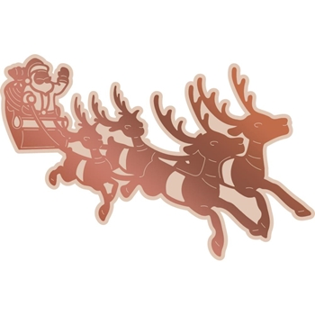 Couture Creations SANTA'S SLEIGH Cut, Foil, & Emboss Die Highland Christmas co726309