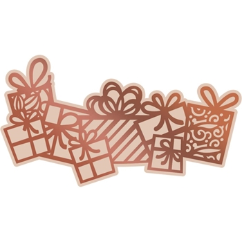 Couture Creations FLURRY OF PRESENTS Cut, Foil, & Emboss Die Highland Christmas co726307