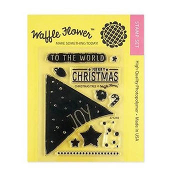 Waffle Flower CHRISTMAS TREE Clear Stamps 271218