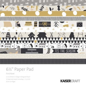 Kaisercraft FIRST NOEL 6.5 Inch Paper Pad PP1053