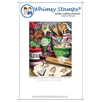 Whimsy Stamps HOLIDAY TREATS Rubber Cling Stamp da1094