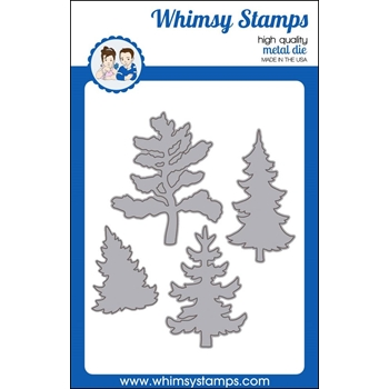 Whimsy Stamps EVERGREEN TREES Die wsd429
